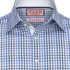 Thomas Pink Twin Collection Sterling Check (Dry Cleaned) Shirt